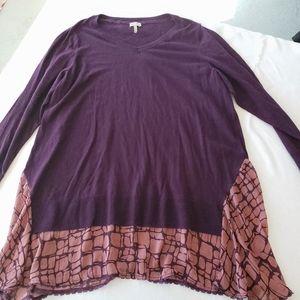 LORI GOLDSTEIN🦋Cashmere Blend Chiffon Sweater 1X